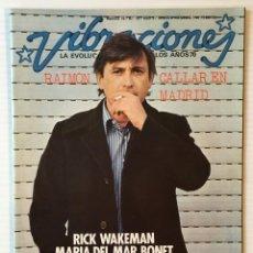 Revistas de música: VIBRACIONES. MARZO 76. NÚMERO 18. RAIMON. SANTANA TANGERINE DREAM. REVISTA DE ROCK.. Lote 152560814