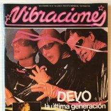 Revistas de música: VIBRACIONES. NOVIEMBRE 78. NÚMERO 50. DEVO. REVISTA DE ROCK. CONTIENE POSTER. Lote 152567506
