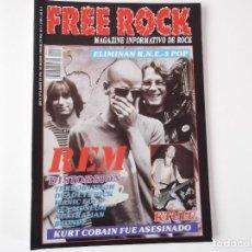 Revistas de música: FREE ROCK Nº 33 MAR 95. TERRORVISION, KTULU, REM, TAHURES ZURDOS, MANIC EDEN. Lote 152577786