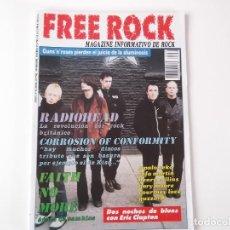 Revistas de música: FREE ROCK Nº 36 JUN 95. LAS NOVIAS, RADIOHEAD, POSTER PAGE & PLANT, FAITH NO MORE, ERIC CLAPTON. Lote 152580078