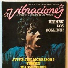 Revistas de música: VIBRACIONES. ABRIL 76. NÚMERO 19. VIENEN LOS ROLLING!. REVISTA DE ROCK. . Lote 152609234