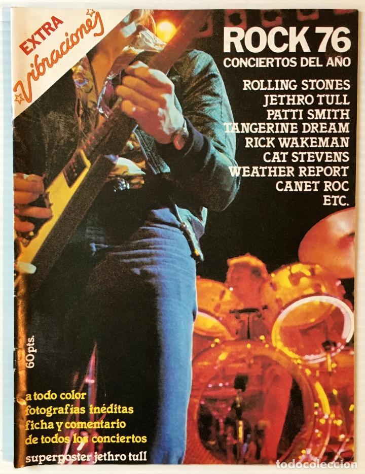 EXTRA VIBRACIONES. ROCK 76. CONCIERTOS DEL AÑO. REVISTA DE ROCK. (Música - Revistas, Manuales y Cursos)