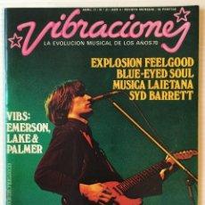 Revistas de música: VIBRACIONES. ABRIL 77. Nº: 31. EXPLOSIÓN FEELGOOD. SYD BARRETT. REVISTA DE ROCK. . Lote 152655210