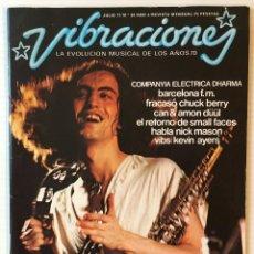 Revistas de música: VIBRACIONES. JULIO 77. Nº: 34. COMPANYIA ELECTRICA DHARMA. REVISTA DE ROCK. . Lote 152655534