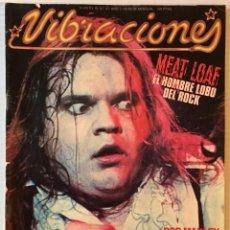 Revistas de música: VIBRACIONES. AGOSTO 78. Nº: 47. MEAT LOAF. CONTIENE POSTER. REVISTA DE ROCK. . Lote 152656358