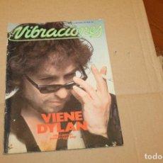 Revistas de música: VIBRACIONES Nº 44, VIENE DYLAN, NO LLEVA EL POSTER CENTRAL. Lote 153093682