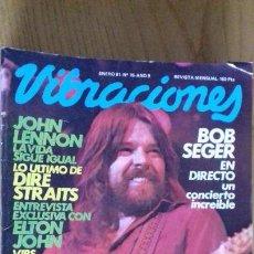 Revistas de música: VIBRACIONES Nº 76 ENERO 1981. Lote 153120706