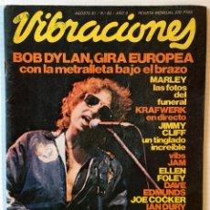 Revistas de música: VIBRACIONES. AGOSTO 81. Nº: 83 BOB DYLAN. REVISTA DE ROCK. . Lote 153127534