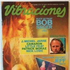 Revistas de música: VIBRACIONES. SEPTIEMBRE 79. Nº: 60 BOB SEGER. REVISTA DE ROCK. . Lote 153127758
