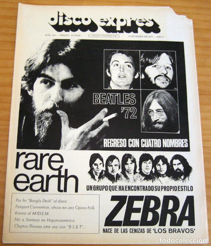 DISCO EXPRES - BEATLES'72 - NÚMERO 156 - AÑO 1972 (Música - Revistas, Manuales y Cursos)
