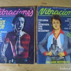 Revistas de música: LOTE REVISTA VIBRACIONES 45,55,67,77 MUSICA AÑOS 70. Lote 153582994