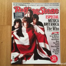 Revistas de música: ROLLING STONE #154 AGOSTO 2012: MÚSICA BRITÁNICA, THE WHO, LED ZEPPELIN, THE CLASH, THE KINKS.... Lote 153680082