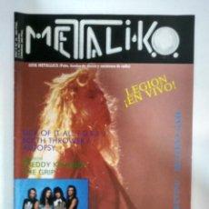 Revistas de música: REVISTA METALIKO Nº35 1990: LEGION, WATCHOVER, SICK OF IT ALL, AUTOPSY, THE GRIP, D.R.I. . Lote 153819890
