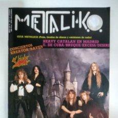 Riviste di musica: REVISTA METALIKO Nº29 1989: KREATOR, SABBAT, ONSLAUGHT, ANNIHILATOR, RENEGADE. Lote 153821382