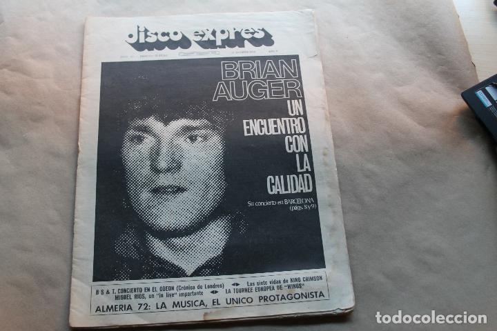 DISCO EXPRES Nº 184, BRIAN AUGER, AÑO 1972 (Música - Revistas, Manuales y Cursos)