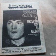 Revistas de música: DISCO EXPRES Nº 184, BRIAN AUGER, AÑO 1972. Lote 154521042