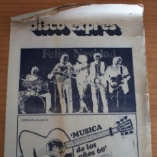 Revistas de música: DISCO EXPRES - ESPECIAL DOCUMENTO MÚSICA DE LOS AÑOS 60 - AÑO 1970. Lote 154538398