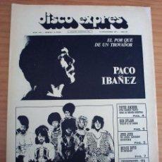 Revistas de música: DISCO EXPRES - PACO IBAÑEZ. BOB DYLAN - NUM. 153 - AÑO 1971 - PERFECTO ESTADO. Lote 154542854