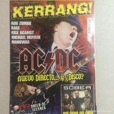 Revistas de música: KERRANG AC DC. Lote 155698722
