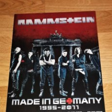 Revistas de música: RAMMSTEIN PROMO POSTER DISPLAY STAND TOUR UK 2011(CARTON DURO) 28X20 CM-IRON MAIDEN-METALLICA. Lote 155715922