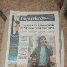 Revistas de música: NOTICIAS DE GIPUZKOA 2007 ESPERANDO A LOS STONES EN DONOSTIA SAN SEBASTIAN . Lote 156005242