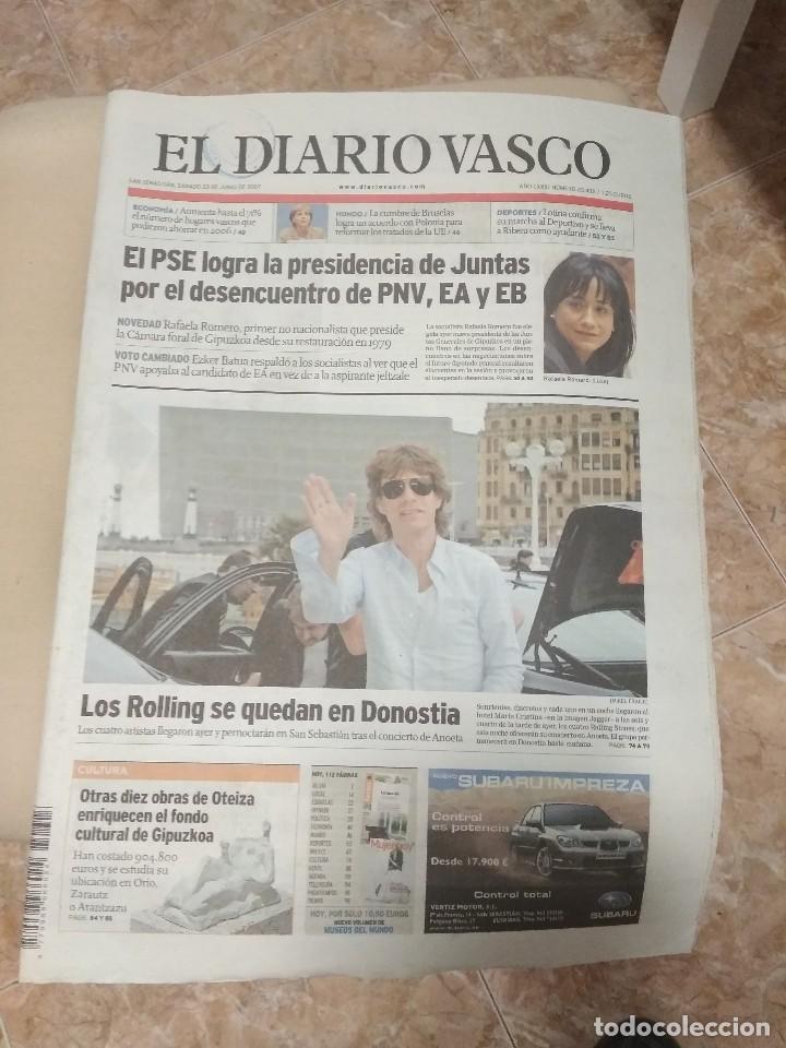 DIARIO VASCO 2007 LOS ROLLING STONES SE QUEDAN EN DONOSTIA SAN SEBASTIAN (Música - Revistas, Manuales y Cursos)