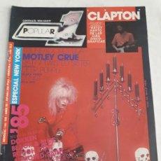 Revistas de música: REVISTA POPULAR 1 Nº 142 ESPECIAL NEW YORK PANZER POSTER AC DC. Lote 156065990