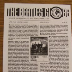 Revistas de música: THE BEATLES GLOBE Nº 32 JUNIO 2010. Lote 192068493
