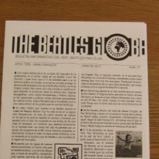 Revistas de música: THE BEATLES GLOBE Nº 37 JUNIO 2013. Lote 161353916