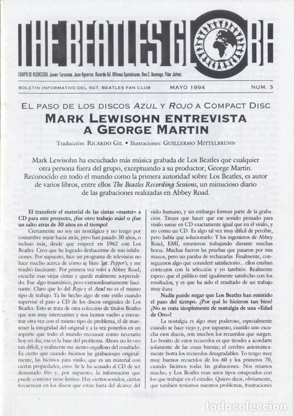 Revistas de música: Boletínes Informativos Nº 2, 3, 4, 5, 6, 7, 8, 9 Sergeant Beatles Fan Club Zaragoza 1994 y 1995 - Foto 2 - 157003006