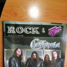 Revistas de música: REVISTA ROCK & TIPO Nº6 ABRIL 2004. Lote 157139230