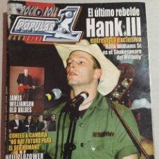 Revistas de música: POPULAR 1 HANK III. Lote 157593182