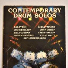 Revistas de música: BATERÍA /CONTEMPORARY DRUM SOLOS. Lote 158613194