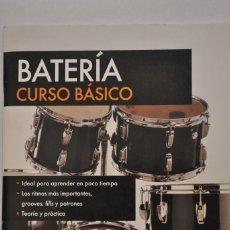 Revistas de música: BATERÍA CURSO BÁSICO CON CD. Lote 158614478
