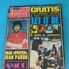 Riviste di musica: Nº 166 REVISTA MUNDO JOVEN 1971 THE BEATLES NINO BRAVO SMASH - PAN Y REGALIZ - JUGUETES PAYA ..... Lote 158976822