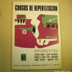 Revistas de música: CURSOS DE REPENTIZACIÓN. ENTONACIÓN Y SOLFEO. Lote 159012834