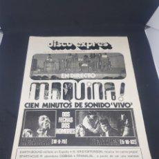 Revistas de música: REVISTA MUSICAL ROCK DISCO EXPRES NÚMERO 192 HENDRIX BEATLES MÁQUINA. Lote 159499552