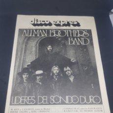 Revistas de música: REVISTA MUSICAL DISCO EXPRÉS NÚMERO 186 ALLMAN BROTHERS BAND. Lote 159500081