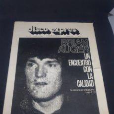 Revistas de música: REVISTA MUSICAL DISCO EXPRÉS 184 LIGERA ROTURA PORTADA. Lote 159504305