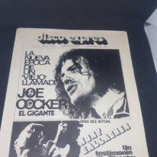 Revistas de música: REVISTA MUSICAL DISCO EXPRÉS NÚMERO 190 JOE COCKER. Lote 159505394