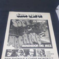 Revistas de música: REVISTA MUSICAL DISCO EXPRÉS NÚMERO 209 SOFT MACHINE BEATLES. Lote 159505877