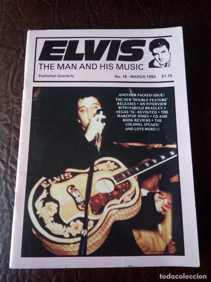 REVISTA ELVIS THE MAN AND HIS MUSIC N°18 1993 (Música - Revistas, Manuales y Cursos)