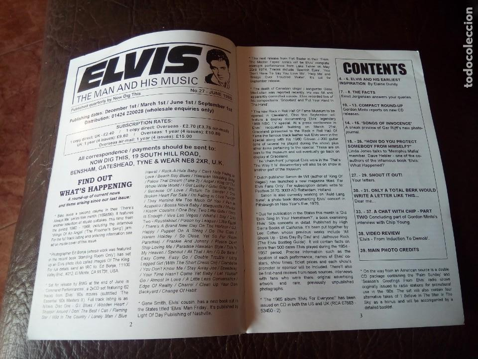 Revistas de música: REVISTA ELVIS THE MAN AND HIS MUSIC N°27 1995 - Foto 3 - 159775978