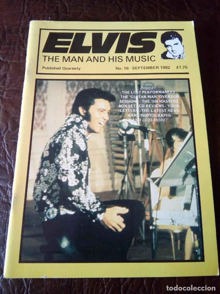 REVISTA ELVIS THE MAN AND HIS MUSIC N°16 1992 (Música - Revistas, Manuales y Cursos)