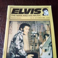 Revistas de música: REVISTA ELVIS THE MAN AND HIS MUSIC N°16 1992. Lote 159777490