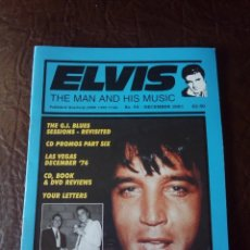 Revistas de música: REVISTA ELVIS THE MAN AND HIS MUSIC N°54 2001. Lote 159778474