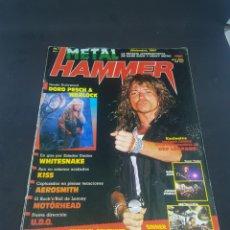 Revistas de música: REVISTA METAL HAMMER MÚSICA HEAVY HARD METAL NÚMERO 1 CON SUS PÓSTER SIN RECORTES. Lote 160276468