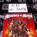 Revistas de música: MÁSTERS OF METAL VOL 1 STICKER ÁLBUM METAL HAMMER COMPLETO. Lote 160597672