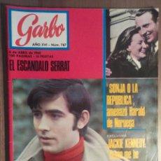 Revistas de música: GARBO 6/4/1968 EL ESCANDALO SERRAT. Lote 160676310