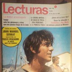 Revistas de música: LECTURAS 25/7/1969 . SERRAT. Lote 160679426